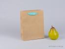 800420 Χάρτινη τσάντα kraft με λαβές φακαρόλα σε βεραμάν χρώμα στο newman.com.gr