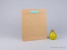 800421 Χάρτινη τσάντα kraft με λαβές φακαρόλα σε 4 χρώματα