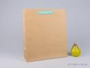 800422 Χάρτινη τσάντα kraft με λαβές φακαρόλα σε 4 χρώματα
