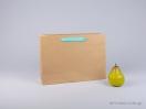 800423 Χάρτινη τσάντη kraft 35x12x25 cm με λαβές από βαμβακερή κορδέλα, φακαρόλα σε 4 χρώματα