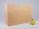 800424 Χάρτινη τσάντη kraft 55x15x39 cm με λαβές από βαμβακερή κορδέλα, φακαρόλα σε 4 χρώματα
