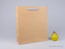 800426 Χάρτινη τσάντα kraft με λαβές φακαρόλα σε 4 χρώματα