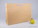 800428 Χάρτινη τσάντη kraft 55x15x39 cm με λαβές από βαμβακερή κορδέλα, φακαρόλα σε 4 χρώματα