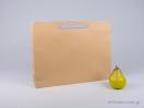 800430 Χάρτινη τσάντη kraft 42x10x32 cm με λαβές από βαμβακερή κορδέλα, φακαρόλα σε 4 χρώματα