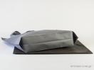 Τσάντα non woven με πιέτα στο κάτω μέρος και χειρολαβή loop σε διαστάσεις 45x40cm