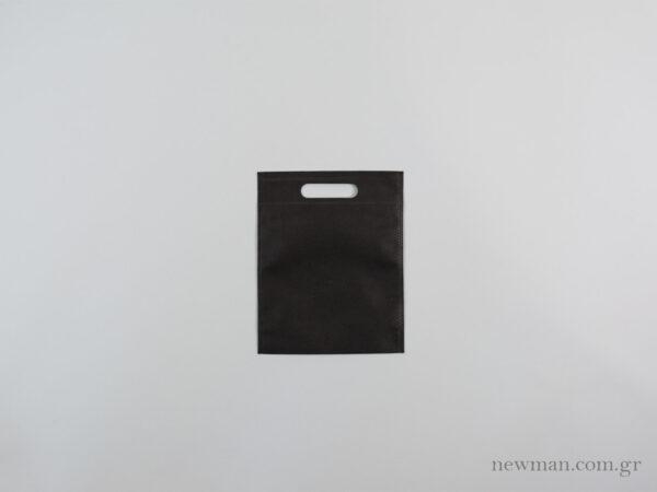 tsantes choufta 20x25cm non woven mavro