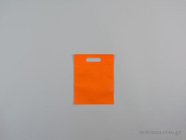 tsantes choufta 20x25cm non woven portokali