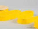 Κορδέλα γκρο κίτρινη με λευκό γαζί