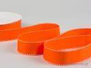 Κορδέλα γκρο πορτοκαλί με λευκό γαζί
