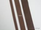 Κορδέλα γκρο με γαζί με φάρδος 25mm