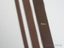 Κορδέλα γκρο με γαζί με φάρδος 38 mm