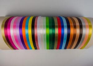 Χρωματολόγιο σατέν κορδέλα διπλής όψης