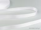 Λευκή Κορδέλα σατέν γυαλιστερής, διπλής όψης.