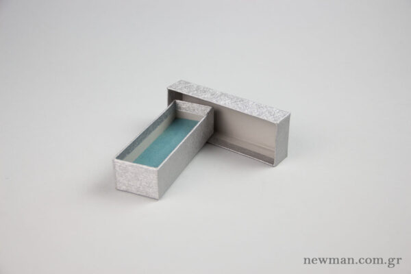 Paper Jewellery Box 12x4x3cm in sliver.