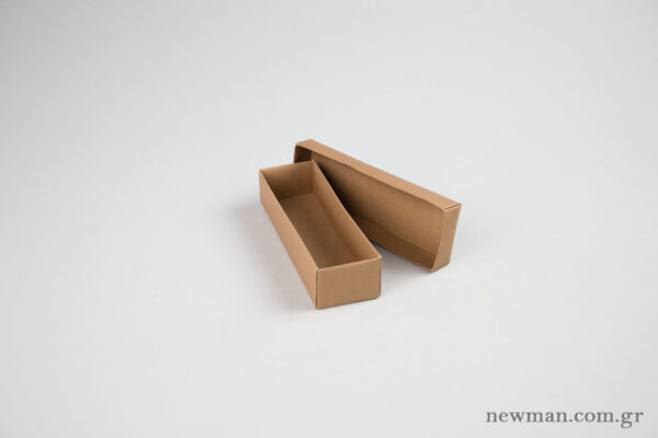 Paper Jewellery Boxes 13x4x3cm in kraft.