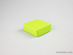 Paper jewellery box 10x10x4cm in lime green.