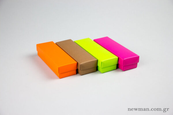 Paper boxes for jewellery.