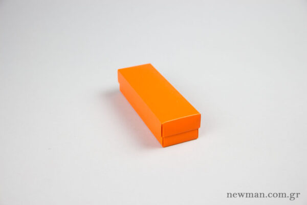 Paper Jewellery Boxes 13x4x3cm in orange.