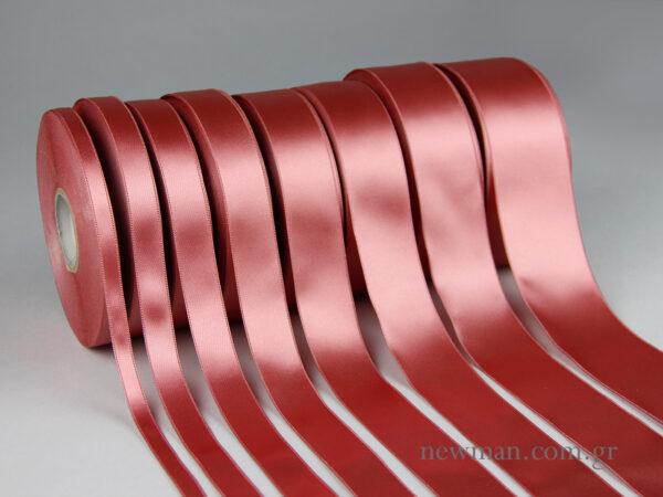 Μεγεθολόγιο σατένς κορδέλας διπλής όψης 10mm, 15mm, 20mm, 25mm, 30mm, 35mm, 40mm. 50mm