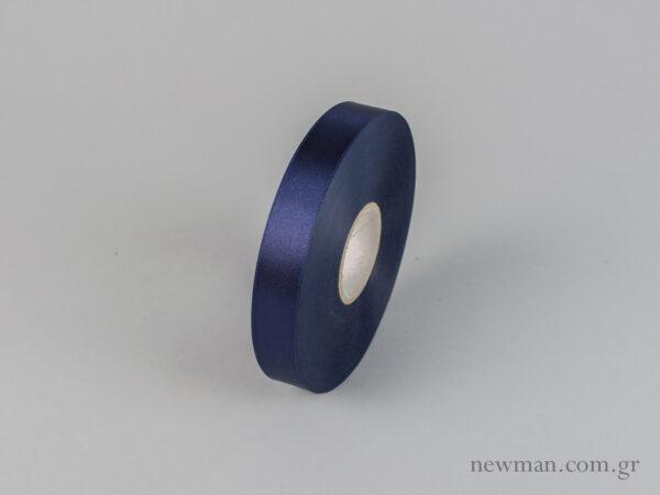 Μπλε μαρίν Κορδέλα σατέν διπλής όψης