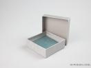 Σκληρό κουτί χάρτινο για μπιζού 10x10x3,5 ασημένιο