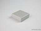 Σκληρό κουτί χάρτινο για μπιζού 10x10x3,5 Ασημί