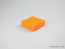 Σκληρό κουτί χάρτινο για μπιζού 10x10x3,5 Πορτοκαλί