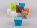 Κουτιά origami by Newman σε διάφορα χρώματα, κατάλληλα για τρόφιμα