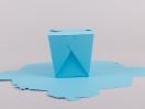 Κουτί origami by Newman σε χρώμα σιέλ