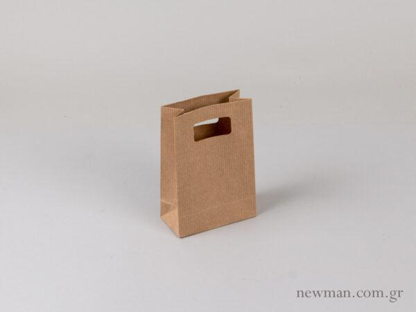 Τσάντα χάρτινη χούφτα santa xartini xoufta no1 063002