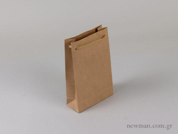 Χάρτινο τσαντάκι κορδόνι xartino tsantaki kordoni no2 063025
