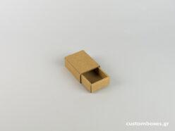 Κουτί kraft συρταρωτό για μενταγιόν νο2