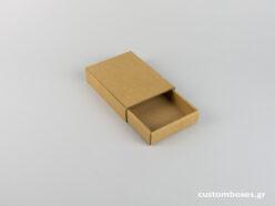Κουτί kraft συρταρωτό για μενταγιόν νο10