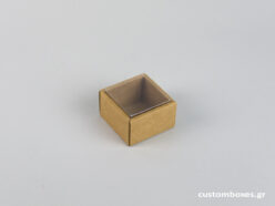 Eco-friendly jewellery box for rings with transparent lid.
