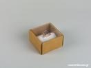 Οικολογικό κουτί kraft με διάφανο καπάκι και άσπρη βελούδινη βάση μεγάλο δαχτυλίδι