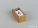 Οικολογικό κουτί kraft με διάφανο καπάκι και άσπρη βελούδινη βάση βραχιόλι