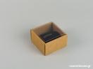 Οικολογικό κουτί kraft με διάφανο καπάκι και μαύρη βελούδινη βάση μεγάλο δαχτυλίδι