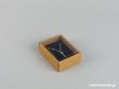 Οικολογικό κουτί kraft με διάφανο καπάκι και μαύρη βελούδινη βάση μενταγιόν νο2