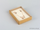 Οικολογικό κουτί kraft με διάφανο καπάκι και εκρού βελούδινη βάση μενταγιόν νο10