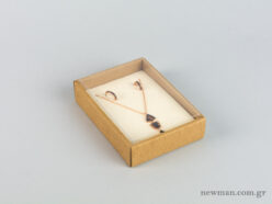 Eco-friendly jewellery box No7 for pendants with ivory velvet insert and transparent lid.