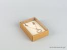 Οικολογικό κουτί kraft με διάφανο καπάκι και εκρού βελούδινη βάση μενταγιόν νο5