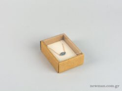 Eco-friendly jewellery box No2 for pendants with ivory velvet insert and transparent lid.