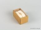 Οικολογικό κουτί kraft με διάφανο καπάκι και εκρού βελούδινη βάση βραχιόλι