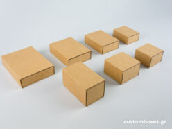 Sliding matchbox-type Kraft Box for jewellery