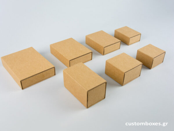 Κουτιά kraft συρταρωτά για κοσμήματα