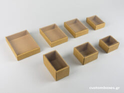 Eco-friendly jewellery boxes with transparent lids available in 7 sizes.