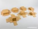 Κουτί kraft συρταρωτό σπιρτόκουτο με βελούδινη βάση σε 7 μεγέθη