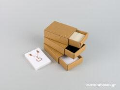 Κουτί kraft συρταρωτό σπιρτόκουτο με βελούδινη βάση μενταγιόν νο5