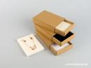 Κουτί kraft συρταρωτό σπιρτόκουτο με βελούδινη βάση μενταγιόν νο10