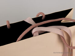 Luxury bag - grosgrain ribbon and cotton cord - details